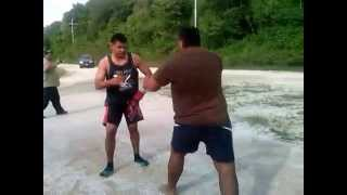 Nauru street fight