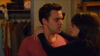 getlinkyoutube.com-Jess & Nick KISS & FIRST TIME New Girl 2x23 SLOW MOTION Anything Could Happen