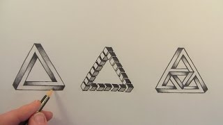 getlinkyoutube.com-How to Draw The Impossible Triangle in 3 Different Ways: Narrated