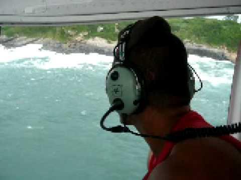 Resgate aéreo - localização dos pescadores em guaratiba