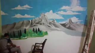 getlinkyoutube.com-الرسم على الجدران بالابعاد الثلاثيه .شاهد ما لم تشاهده من قبل .مساحه اللوحه 400سم×270سم.