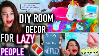 getlinkyoutube.com-DIY Room Decor for LAZY PEOPLE you NEED to know - Easy, Affordable, and Tumblr Inspired Ideas