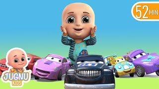 Car Videos - Racing Car Family - Nursery Rhymes Compilation from Jugnu Kids