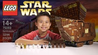 getlinkyoutube.com-LEGO SANDCRAWLER - LEGO Star Wars UCS Set 75059 Time-lapse, Stop Motion, Unboxing & Review