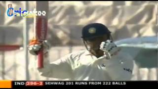V Sehwag 309  Pakistan v India, 1st Test, Multan, 2004