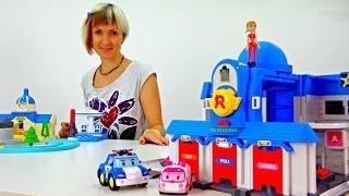 getlinkyoutube.com-Станция спасения Робокар Поли, Эмбер, Рой. Машинки-трансформеры.  Видео с Машей для детей.