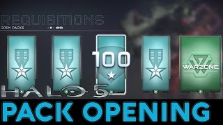 getlinkyoutube.com-Halo 5: Guardians - Pack Opening - SR 100, Weapon Mastery, 13 Gold + Premium Packs (So Many Mythics)