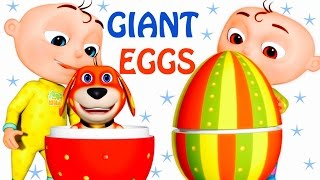 getlinkyoutube.com-Five Little Babies Opening Giant Eggs   Zool Babies Fun Songs   Five Little Babies Collection