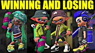 All WINNING and LOSING Animations in Splatoon 2 (So Far) (NINTENDO SWITCH)