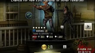getlinkyoutube.com-Walking Dead : Road to Survival - TWO TURKEY TOKENS - 5 STAR LOL!!!