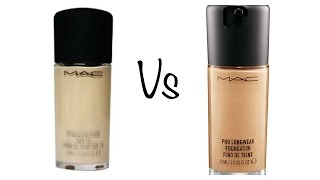 getlinkyoutube.com-Comparison: MAC Studio Fix Fluid & Pro Long Wear Foundation