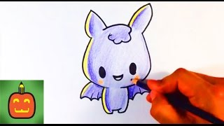getlinkyoutube.com-How to Draw a Cute Bat Demon - Halloween Drawings