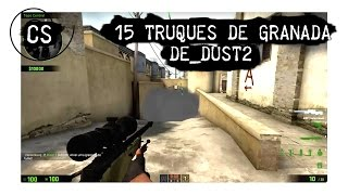 getlinkyoutube.com-CS:GO 15 truques de granadas na DUST2 - smoke flashbang molotov