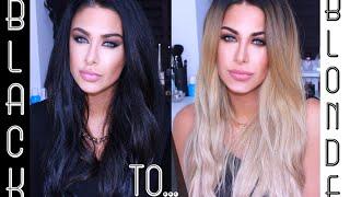 getlinkyoutube.com-Black hair to Blonde hair + My new Blonde Beauty Works LA weave!
