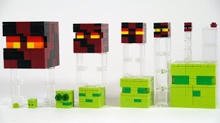 getlinkyoutube.com-How To Build LEGO Minecraft Slime & Magma Cube