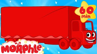 getlinkyoutube.com-My Red Truck (+1 hour My Magic Pet Morphle episodes with vehicles) Trucks for kids