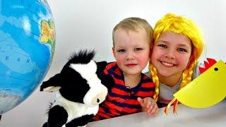 getlinkyoutube.com-Игры для детей: Викторина. Настя, Вова и Умная коровка - Шпаргалка. Смешные видео