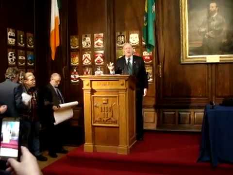 Turning of Sovereign Seal, Mansion House Dublin 21st January 2018