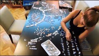 getlinkyoutube.com-Ravensburger Astrology 9000 pieces puzzle - Time lapse
