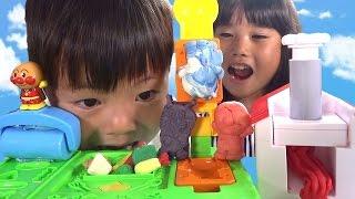アンパンマン ねんど で パンこうじょうセット & ねんどファースト おもちゃ Anpanman Clay Toy