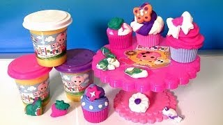 getlinkyoutube.com-Lalaloopsy Cra-Z-Cute Cupcakes Playset Softee Dough With Cupcake Stand by Cra-Z-Art Play Doh