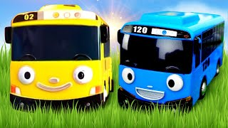 getlinkyoutube.com-Tayo The Little Bus Toys. 타요 도로놀이 장난감 Racetrack. Kids Toy Cars and Buses