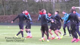 getlinkyoutube.com-Arsenal Training pre Arsenal vs Barcelona 2016