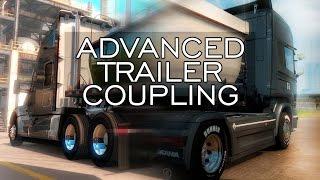 American Truck Simulator - Haladó pótkocsi felkapcsolás