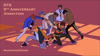 BTS Animation   5 Years With BTS!