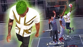 OP SLASHER Already Posterizing WITHOUT Any Badges!! Playgrounds Debut! - NBA 2K18 MyCAREER #7