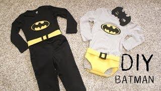 getlinkyoutube.com-DIY Cómo hacer disfraz de BATMAN para niños