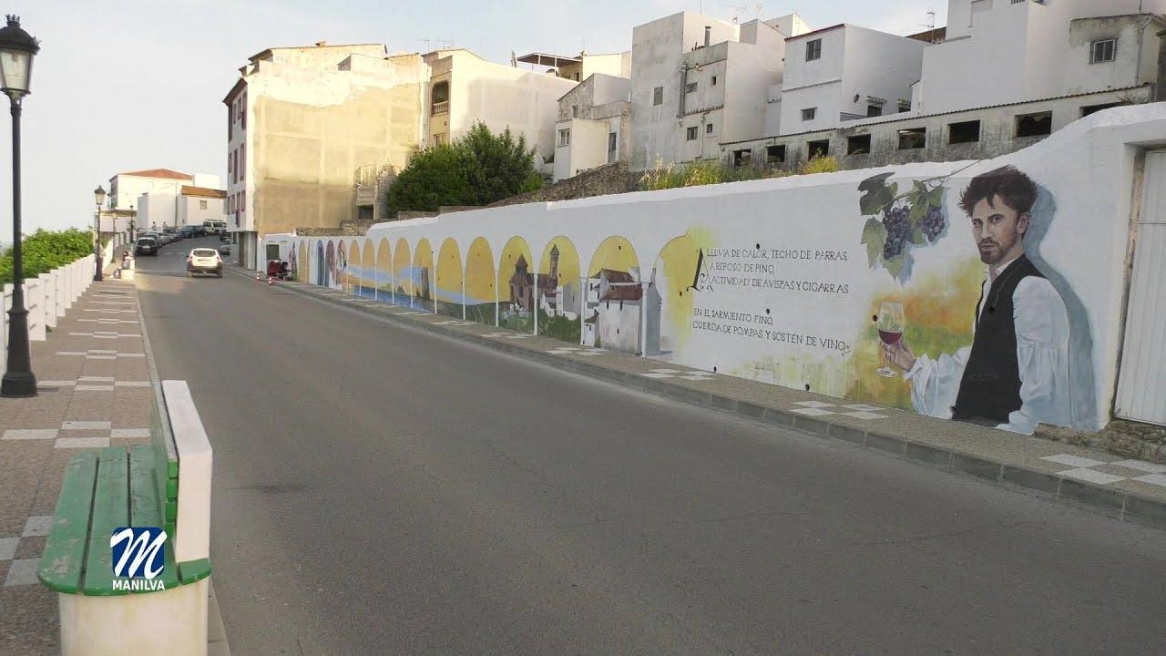 El mural de la artista Maria José Gil causa sensación en Manilva