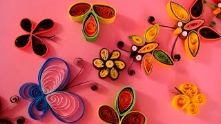 Paper Quilling Tutorial # 1- How To Make Butterfly @ ekunji.com