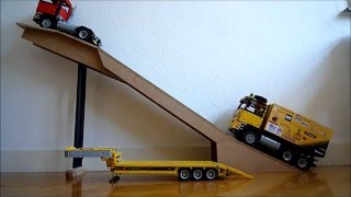 getlinkyoutube.com-Lego MAN 4x4 and MAN 6x6 Dakar service truck version 2 - Trailer HD