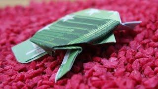 getlinkyoutube.com-Geldschein falten Schildkröte, originelles Geldgeschenk, Origami Schildkröte falten #TrauDirWasZu