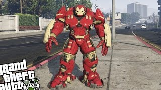 getlinkyoutube.com-GTA 5 PC Iron Man Mod - HULKBUSTER ARMOR VS ZOMBIE INVASION (Grand Theft Auto 5 Hulkbuster)