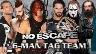 getlinkyoutube.com-WWE No Escape 2015 - Team Kane Vs Team Seth Rollins (6 - Man Tag Team) Match HD