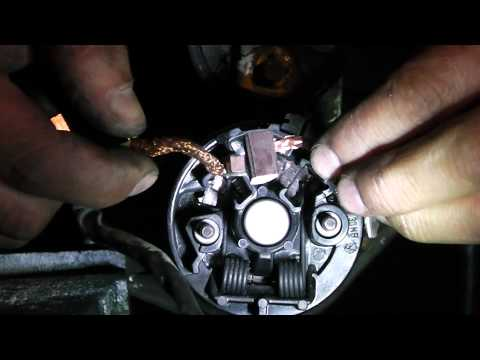 Opel astra,corsa starter motor diagnose and brush change.