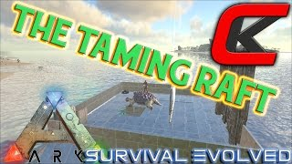 getlinkyoutube.com-ARK: Survival Evolved - MY TAMING RAFT!