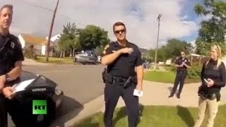 getlinkyoutube.com-Man confronts cops after they shoot his dog