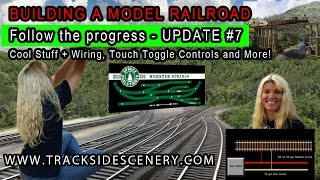 getlinkyoutube.com-BUILDING A MODEL RAILROAD - Layout Update #7 Cool Stuff/Wiring/Touch Toggle Controls