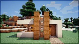 getlinkyoutube.com-Minecraft: CONSTRUA UMA CASA MODERNA EM 5 MINUTOS! (NO SURVIVAL)