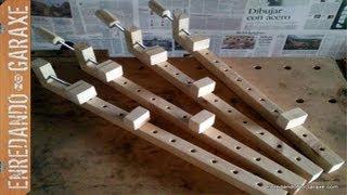 getlinkyoutube.com-Como hacer sargentos de madera. How to make wooden bar clamps.