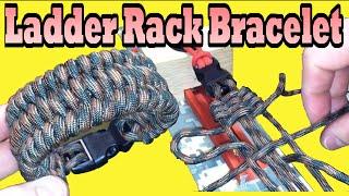 getlinkyoutube.com-Paracordist's_How_To_Make_the_Ladder_Rack_Knot_Paracord_Bracelet_using_the_Ultimate_Jig