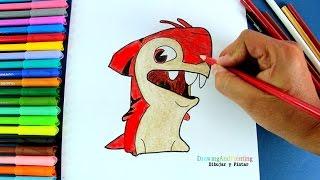 How to draw MAKOBREAKER (Slugterra)   Cómo dibujar babosa SHARKUS (Bajoterra)