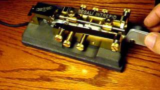 getlinkyoutube.com-Bug Telegraph Key W5PEH Begali INTREPID Semi Automatic