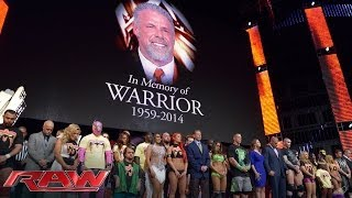 getlinkyoutube.com-A tribute to the memory of The Ultimate Warrior: Raw, April 14, 2014