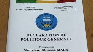 Déclaration de Politique Générale du Premier Ministre Moussa MARA