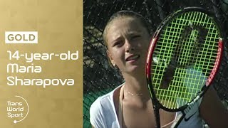 getlinkyoutube.com-14-year-old Maria Sharapova on Trans World Sport