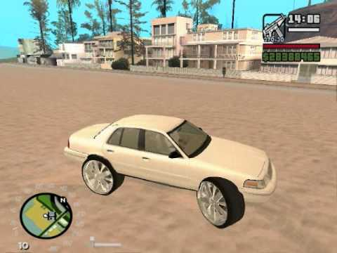 crown vic on 30s gta san andreas donk mod